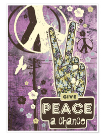 Plakat Give Peace A Chance