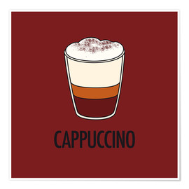 Plakat Cappuccino, for the italian lover in you!