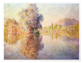 Plakat Early Morning on the Seine at Giverny