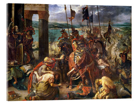 Akrylbilde  The conquest of Constantinople by the crusaders - Eugene Delacroix