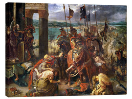 Lerretsbilde  The conquest of Constantinople by the crusaders - Eugene Delacroix