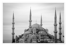 Plakat  the blue mosque in Istanbul / Turkey - gn fotografie