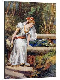 Aluminiumsbilde  The Frog Prince - William Henry Margetson