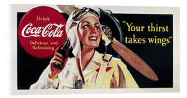 Akrylbilde  Coca-Cola, your thirst takes wings