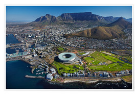 Plakat  Cape Town Stadium and Table Mountain - David Wall
