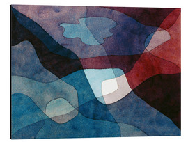Aluminiumsbilde  Mountain and Synthetic Air - Paul Klee