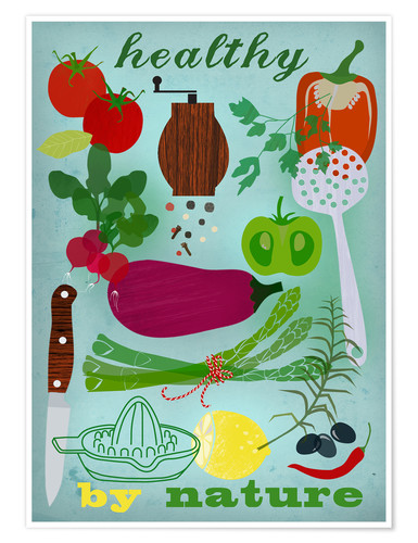 Plakat Healthy by nature I