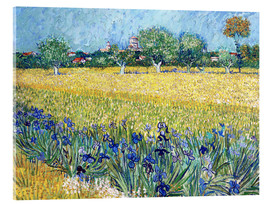 Akrylbilde  View of Arles with irises in the foreground - Vincent van Gogh