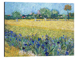 Aluminiumsbilde  View of Arles with irises in the foreground - Vincent van Gogh