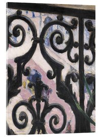 Akrylbilde  View through balcony grill - Gustave Caillebotte