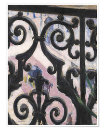 Plakat  View through balcony grill - Gustave Caillebotte