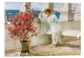 Akrylbilde  Her eyes are with her thoughts and they are far away - Lawrence Alma-Tadema