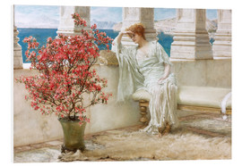 Bilde på skumplate  Her eyes are with her thoughts and they are far away - Lawrence Alma-Tadema