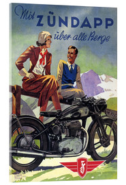 Akrylbilde  With Zündapp over the hills (German) - Advertising Collection