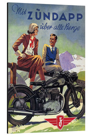 Aluminiumsbilde  With Zündapp over the hills (German) - Advertising Collection