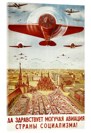 Akrylbilde  Aircraft parade on Moscow - Advertising Collection