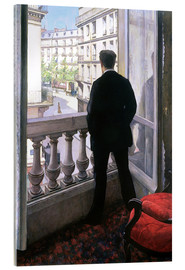 Akrylbilde  Man at the Window - Gustave Caillebotte