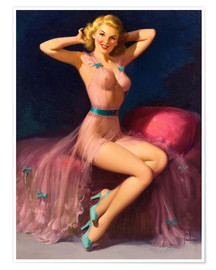 Plakat Pin Up in Pink