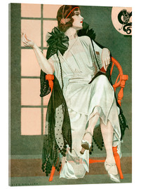 Akrylbilde  Lady writing - Clarence Coles Phillips