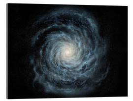 Akrylbilde  face-on view of the Milky Way - Ron Miller