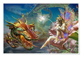 Plakat The dragon and the fairy