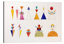 Aluminiumsbilde  Sketch for picture XVI, The Great Tower of Kiev - Wassily Kandinsky