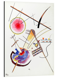 Aluminiumsbilde  Watercolor from the Hess Guest Book - Wassily Kandinsky