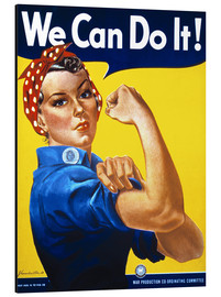 Aluminiumsbilde  We Can Do It! - Advertising Collection