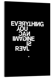 Akrylbilde  Everything you can imagine is real (Picasso), svart - THE USUAL DESIGNERS