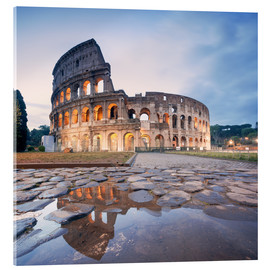 Akrylbilde  Colosseum reflected into water - Matteo Colombo