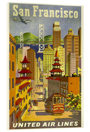 Akrylbilde  San Francisco United Airlines - Travel Collection