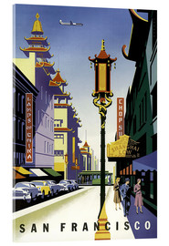 Akrylbilde  United Air Lines San Francisco - Travel Collection