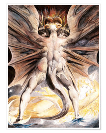 Plakat  The Great Red Dragon and the Woman Clothed with Sun - William Blake