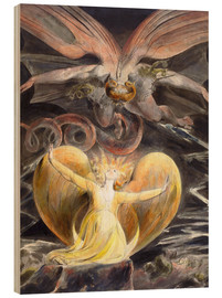 Trebilde  The Great Red Dragon and the Woman Clothed with the Sun - William Blake