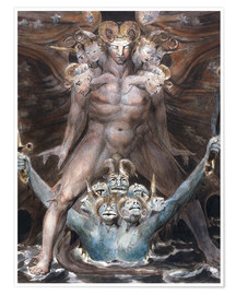 Plakat  the great red dragon and the beast from the sea - William Blake