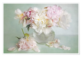 Plakat  still life with peonies - Lizzy Pe