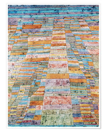 Plakat  Main path and Byways - Paul Klee