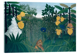 Akrylbilde  The meal of the lion - Henri Rousseau