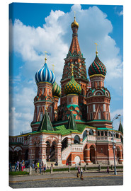 Lerretsbilde  St. Basil's Cathedral, Moscow - Michael Runkel