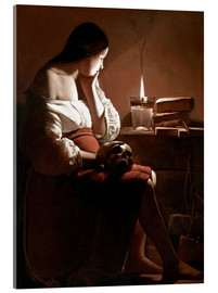 Akrylbilde  The Magdalen with the Smoking Flame - Georges de la Tour