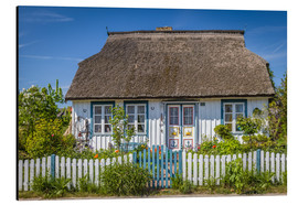 Aluminiumsbilde  Thatched cottage on the Baltic Sea - Christian Müringer