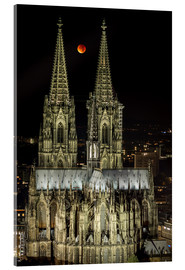 Akrylbilde  Blood moon shines over Cologne Cathedral - rclassen