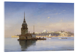 Akrylbilde  The Maiden's Tower with Istanbul in the background - Carl Neumann