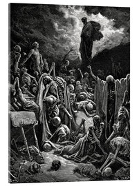 Akrylbilde  The Vision of The Valley of The Dry Bones - Gustave Doré