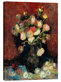Lerretsbilde  Vase with Chinese Asters and Gladioli - Vincent van Gogh