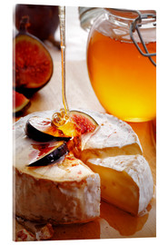 Akrylbilde  Brie Cheese and Figs with honey - Johan Swanepoel