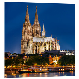 Akrylbilde  Night view of Cologne Cathedral