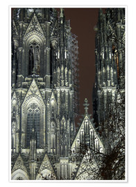 Plakat  Detail of Cologne Cathedral