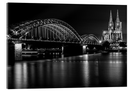 Akrylbilde  Cologne Cathedral and bridge