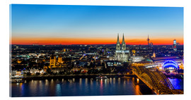 Akrylbilde  Colorful Cologne skyline at night